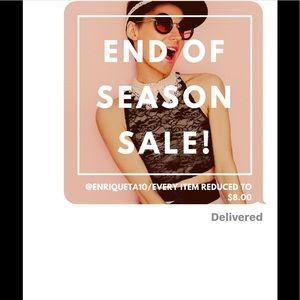 Super sale $8/until October 31